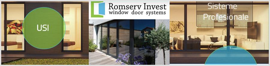 Romserv Invest, Targoviste - Tamplarie PVC si Aluminiu Logo