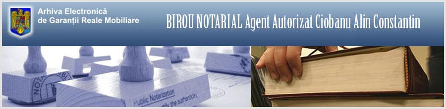 Birou Notarial Ciobanu Alin Constantin Logo