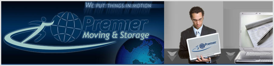 PREMIER MOVING & STORAGE Logo