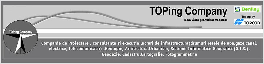TOPing Company, cadastru, topografie Ploiesti Logo