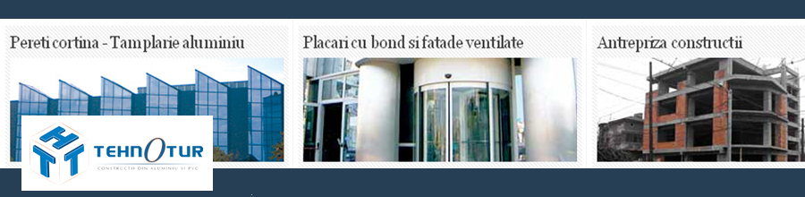 Tehnotur Construct, Bucuresti - Placari bond, pereti cortina, tamplarie PVC Logo