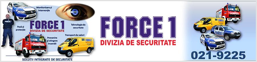 Force 1 - Agentie Paza si Protectie Bucuresti Logo