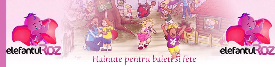 Elefantul Roz - Hainute pentru baieti si fete. Logo