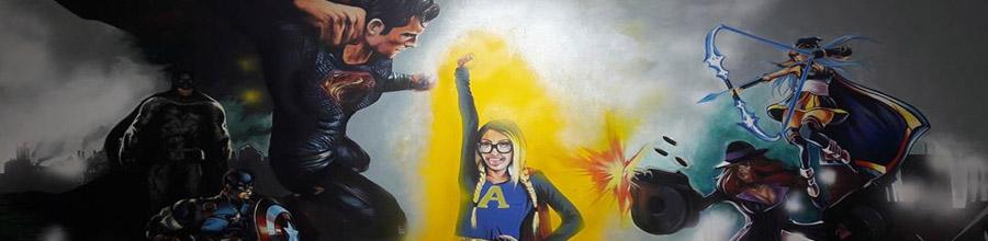 Pictura pe Pereti, Bucuresti - Pictura pe pereti in spatii publice si rezidentiale Logo