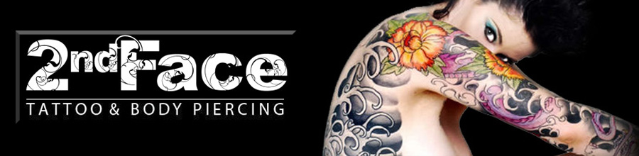2nd Face Tattoo & Body Piercing Logo