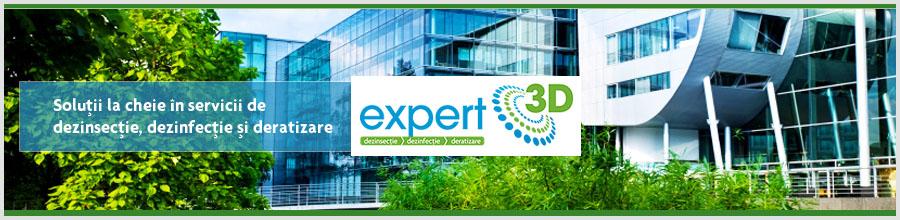 Expert 3D servicii profesionale dezinsectie, dezinfectie, deratizare Iasi Logo