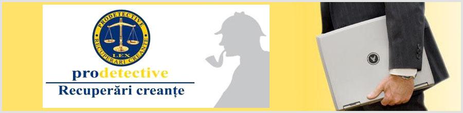 PRODETECTIVE RECUPERARI CREANTE Logo