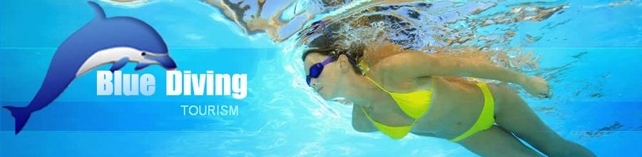 Blue Diving Tourism Logo