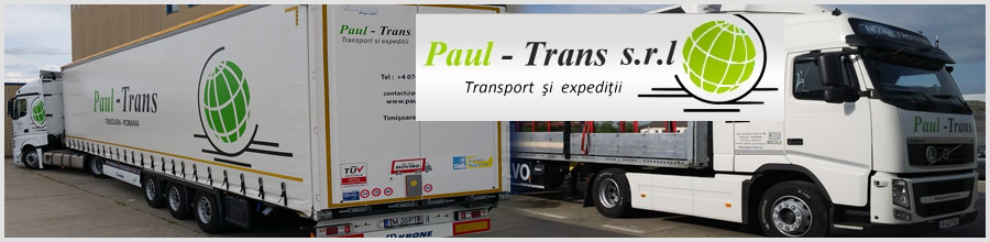 Paul Trans Casa de expeditii - Firma de transport marfa Timis Logo