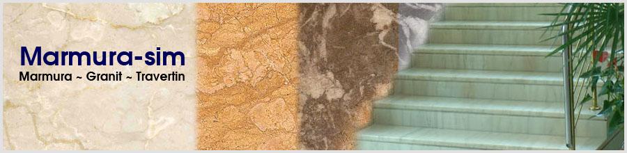 Marmura Simeria / Hunedoara - Cruci, fantani, seminee din marmura,granit si travertin Logo