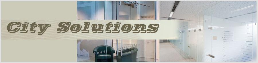 City Solutions, Bucuresti - Scari,balustrade, pardoseli din sticla Logo