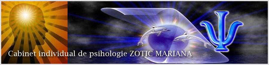 Zotic Mariana, Cabinet individual de psihologie Constanta Logo