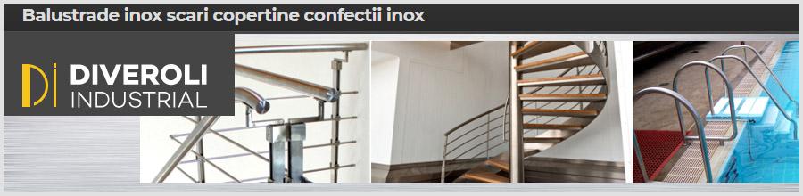 DIVEROLI INDUSTRIAL Balustrade, scari, copertine, confectii inox Logo