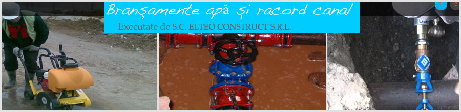 ELTEO CONSTRUCT - Bransamente apa, racord canalizare Bucuresti Logo