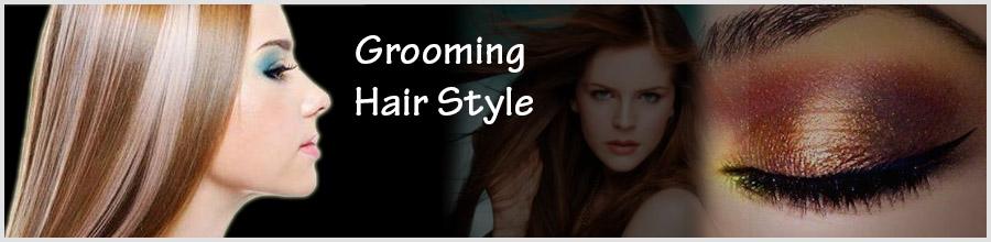 Grooming Hair Style Logo
